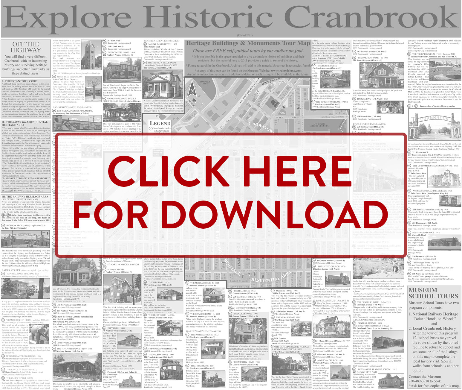 Download Baker Hill Heritage Map